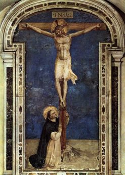 Saint Dominic Adoring the Crucifion | Fra Angelico | Oil Painting