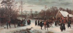 Arrival of Prince Frederick Charles on the Battlefield of Vionville | Conrad Freyberg | Oil Painting