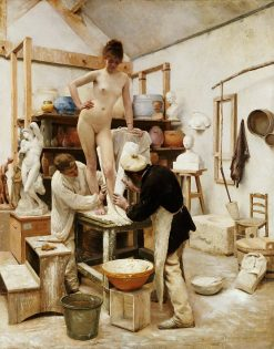 A Casting from Life | Edouard Joseph Dantan | Oil Painting