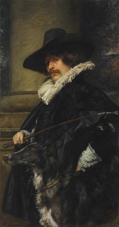 Portrait of a Gentleman with Dog | Ferdinand Roybet | Oil Painting