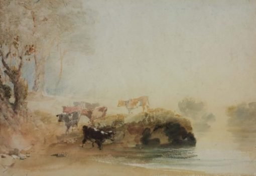 Cattle on the Banks of a River | Joseph Mallord William Turner | Oil Painting