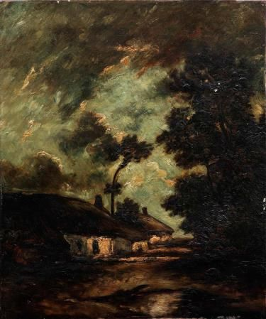 Cottage in Normandy | Jules DuprE | Oil Painting