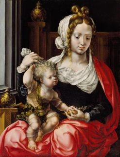 Virgin and Child | Jan Gossaert | Oil Painting