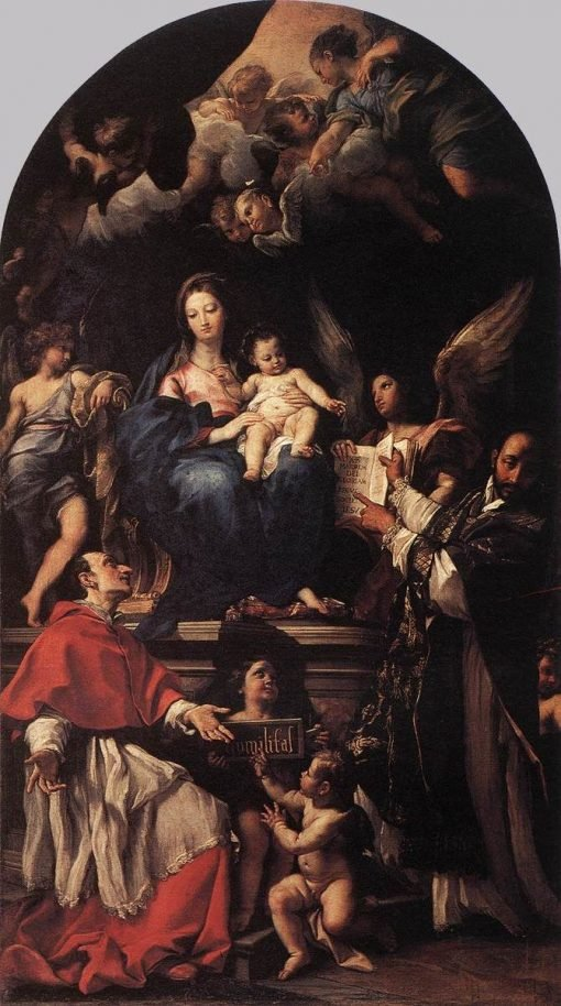 Madonna and Child Enthroned with Angels and Saints | Carlo Maratta | Oil Painting