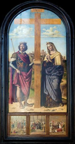 Saints Helena and Constantine at the Sides of the Cross | Cima da Conegliano | Oil Painting