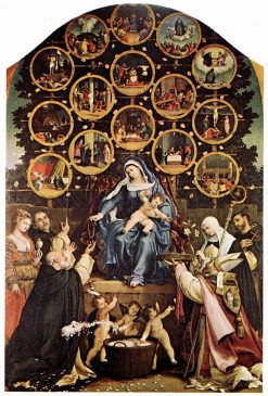 Madonna of the Rosary | Lorenzo Lotto | Oil Painting