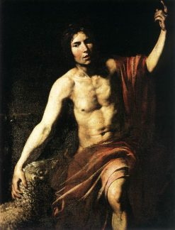 Saint John the Baptist | Valentin de Boulogne | Oil Painting