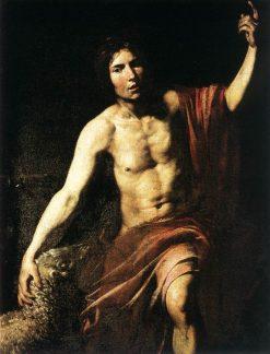 Saint John the Baptist | Valentin de Boulogne | Oil Painting
