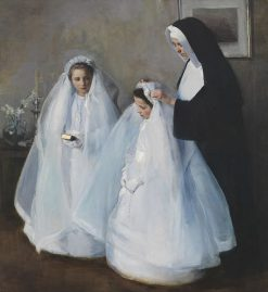 The First Communion(also known as La Premie?re communion) | Elizabeth Nourse | Oil Painting