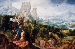 Landscape with the Offering of Isaac | Herri met de Bles | Oil Painting