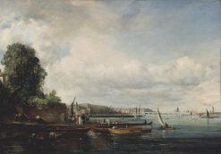 Waterloo Bridge   John Constable   Oil Painting