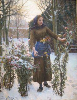 Last Flowers | Jules Adolphe Breton | Oil Painting