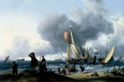 Dutchmen Embarking onto a Yacht | Ludolf Backhuysen | Oil Painting