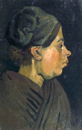 Head of a Brabantian Peasant Woman with Dark Hood | Vincent van Gogh | Oil Painting
