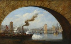 Opening of Old Hungerford Bridge | James Holland | Oil Painting