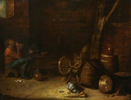 Interior with Figures | Abraham Diepraem | Oil Painting