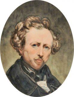 Self Portrait   Ary Scheffer   Oil Painting