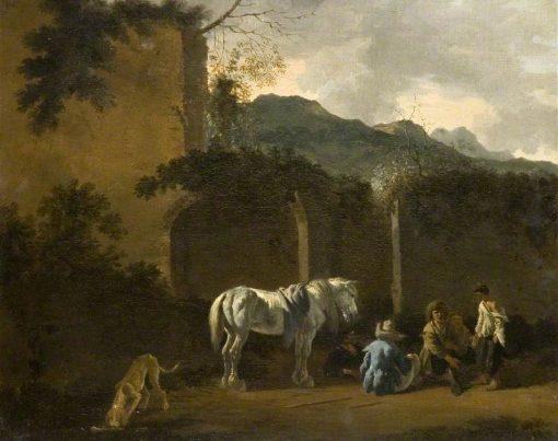 Halt of the Gypsies | Carel Dujardin | Oil Painting