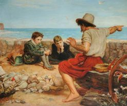 The Boyhood of Raleigh (after Millais) | Charles Emile Jacque | Oil Painting