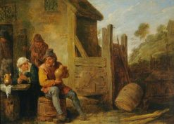 Exterior of an Inn: Peasants Drinking | David Teniers II | Oil Painting