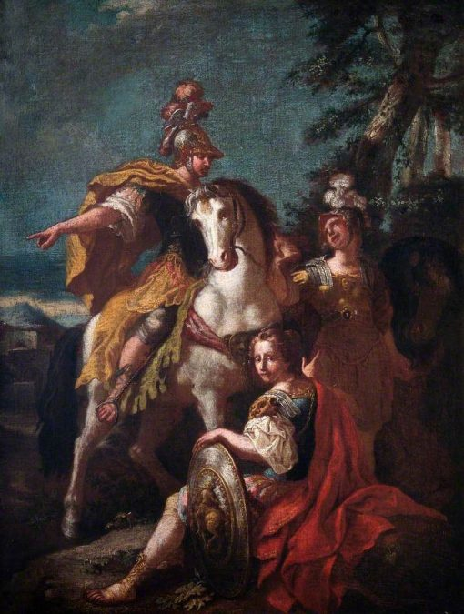 Man in Armour on a White Horse | Francesco Solimena | Oil Painting