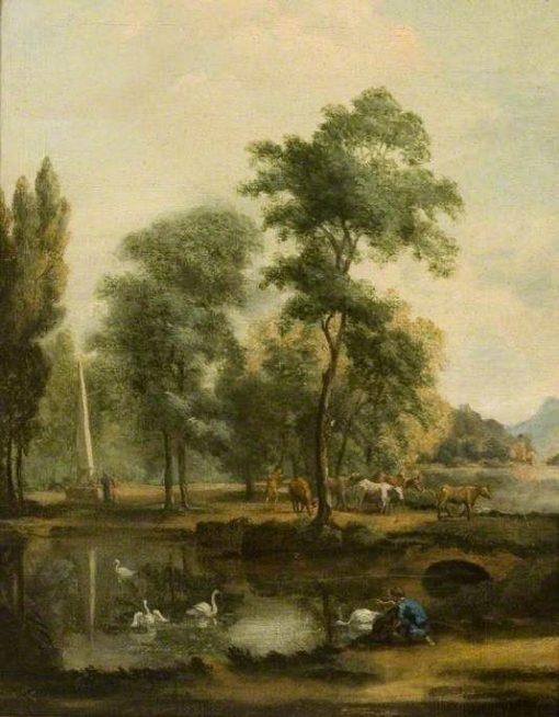 Landscape by a River | Hendrik Frans van Lint | Oil Painting