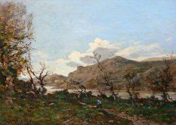 A Hilly Landscape | Henri Joseph Harpignies | Oil Painting
