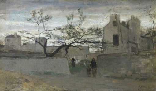 Courtyard Landscape | Jacob Maris | Oil Painting