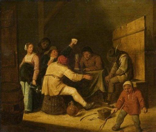 Card Players   Jan Miense Molenaer   Oil Painting