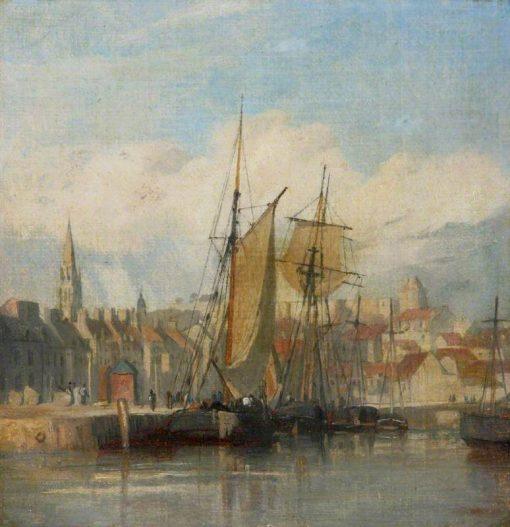 Dieppe Harbour | Richard Parkes Bonington | Oil Painting