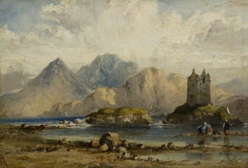 Castle on a Scottish Loch | Richard Parkes Bonington | Oil Painting