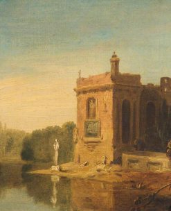 Lake with a Pavilion and Statue | Richard Wilson