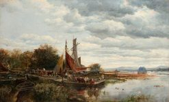 The Quay | Samuel Bough | Oil Painting
