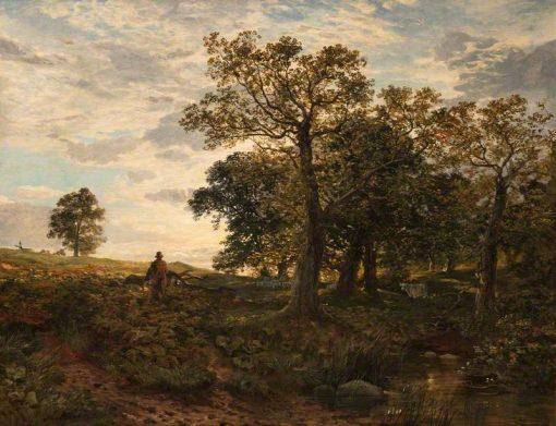 Verderer in Cadzow Forest | Samuel Bough | Oil Painting