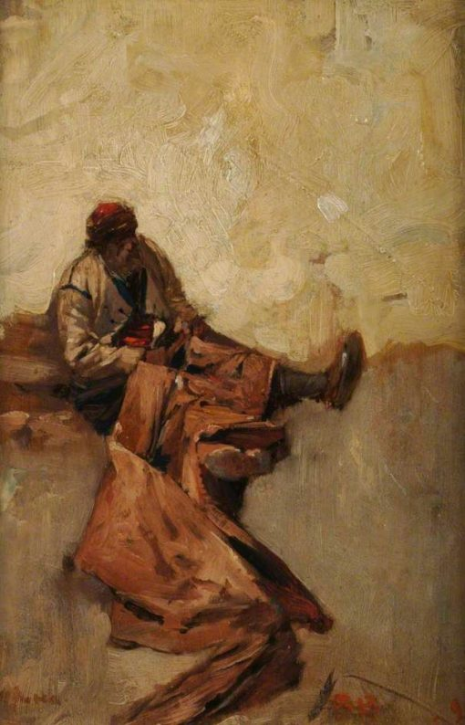 A Balkan Fisherman   Sir Frank William Brangwyn   Oil Painting