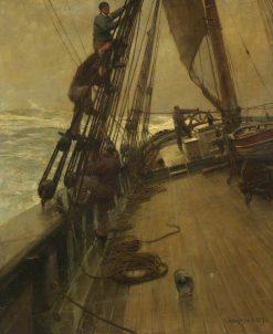 All Hands Shorten Sail | Sir Frank William Brangwyn | Oil Painting