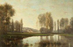 River Scene | Stanislas LEpine | Oil Painting