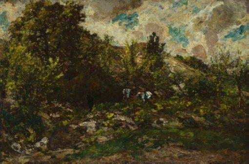 Autumn | Adolphe Joseph Thomas Monticelli | Oil Painting