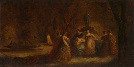 A Woodland Fête   Adolphe Joseph Thomas Monticelli   Oil Painting