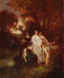 Figures in the Woods   Adolphe Joseph Thomas Monticelli   Oil Painting