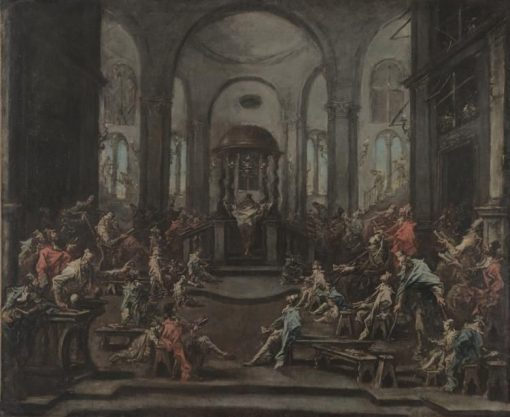 Interior of a Synagogue | Alessandro Magnasco | Oil Painting