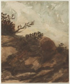 Sunset over the Hill | Alphonse Legros | Oil Painting