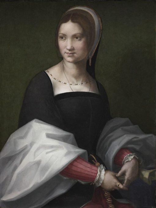 Portrait of a Woman   Andrea del Sarto   Oil Painting
