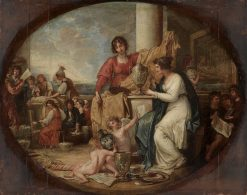 British Manufactory; A Sketch | Benjamin West | Oil Painting