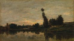 Sunset of the River Oise | Charles Francois Daubigny | Oil Painting