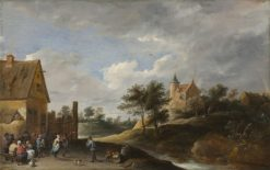 Landscape with Peasants Dancing | David Teniers II | Oil Painting