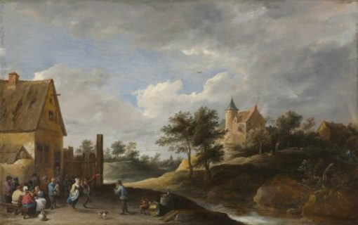 Landscape with Peasants Dancing | David Teniers II | Oil Painting