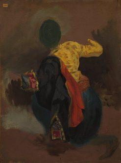 Figure in Turkish Costume | Eugene Delacroix | Oil Painting