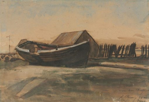Boat on a Beach | Francois Bonvin | Oil Painting