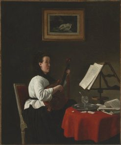 Young Woman with a Mandolin